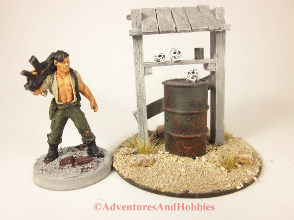 Wargame Terrain Desert Roadside Shrine T1535 Post Apocalypse Horror Scenery 40K