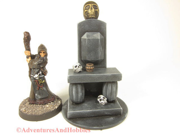 Miniature Death Cult Altar Wargame Scenery T1538 25 to 28 mm ScalePulp Horror Fantasy Terrain