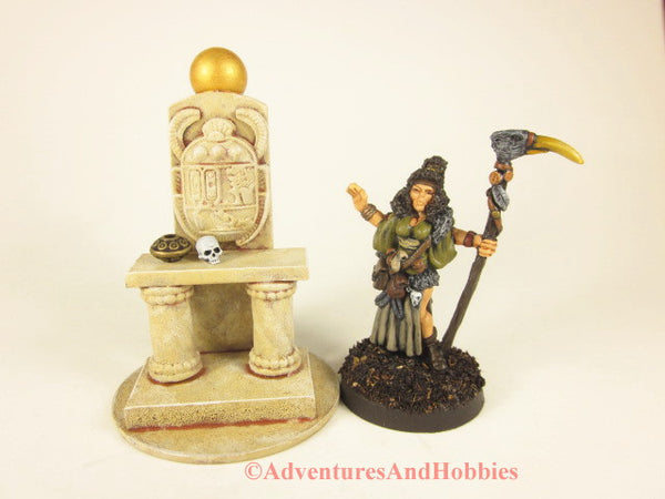Miniature Egyptian sandstone altar T1539 for 25-28mm scale table top wargames.