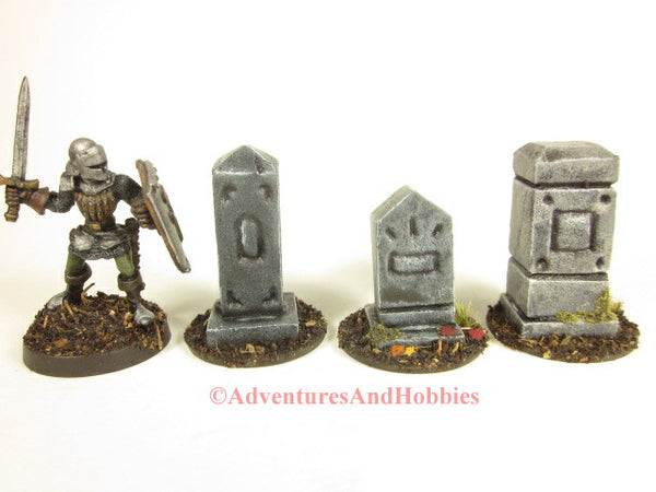 Wargame Terrain Graveyard Monuments Set of 3 T1542