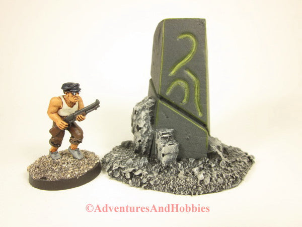 Call of Cthulhu Stone Monument T1572 War Game Terrain for 25-28mm scale miniature war games and role-playing games.