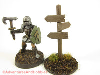 Wargame Scenery Road Sign Post T1578 25-28mm Fantasy Terrain D&D 40K