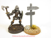 Wargame Scenery Road Sign Post T1579 25-28mm Fantasy Terrain D&D 40K