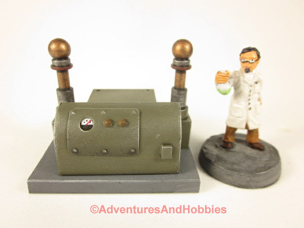 Miniature Mad Scientist Laboratory Equipment T1588 25-28mm 40K Frankenstein Lab