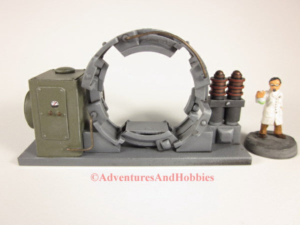 Wargame Terrain Mad Science T2311 Time Portal Laboratory Industrial 25-28mm