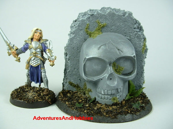 Wargame Terrain Pulp Idol Skull Shrine T351 Jungle Painted