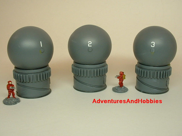 Wargame Terrain 15MM Storage Tanks Set of 3 Sci Fi T431