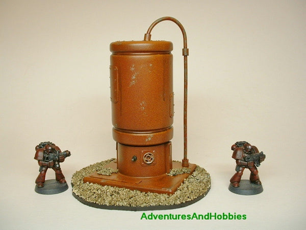 Miniature Post Apocalypse Storage Tank T440 Wargame Scenery Painted 40K