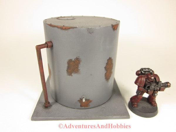 Miniature Wargame Terrain Rusty Storage Tank Industrial Equipment T577 25-28mm Scale