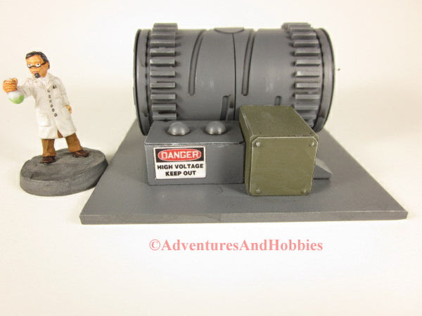 Wargame scenery 25-28mm scale electrical power generator T608 for tabletop miniature war games.