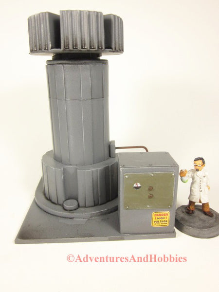 Wargame scenery 25-28mm scale industrail processing tower with control console T609 for tabletop miniature war games.