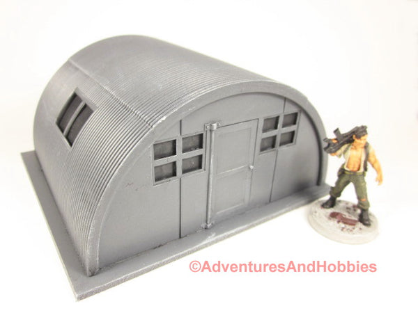 Miniature Quonset Hut T612 25-28mm Scale Wargame Scenery Science Fiction Pulp 40K