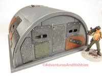 Miniature Armored Quonset Hut T613 25-28mm Scale Wargame Scenery Post Apocalypse 40K