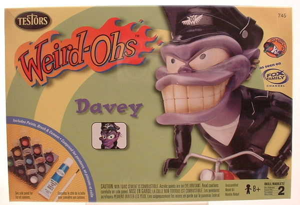 Weird-Ohs Davey on Motorcycle Model includes Paints Testors 745 HA