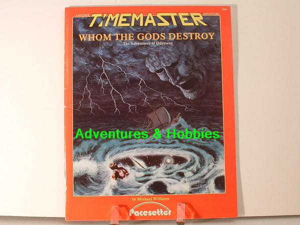 Timemaster Whom the Gods Destroy 1985 Pacesetter OOP J7 Time Travel