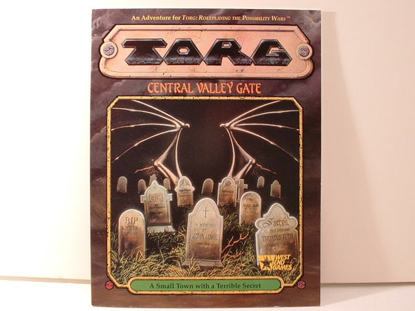 Torg Central Valley Gate Adventure New OOP JB West End Games
