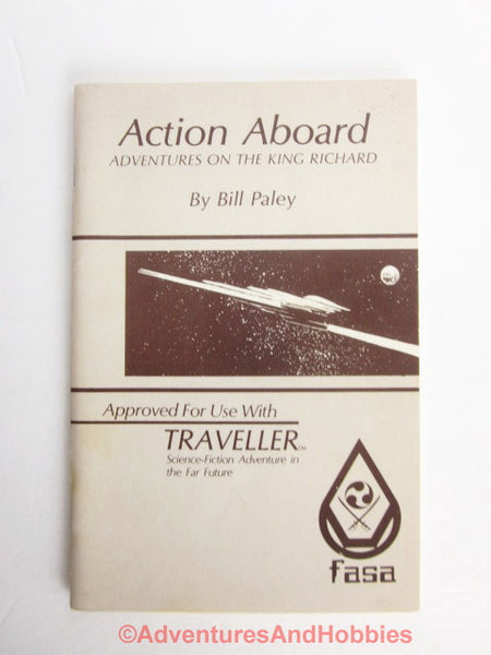 Traveller Adventure Action Aboard the King Richard With Deck Plans FASA A2 1981 CU-S