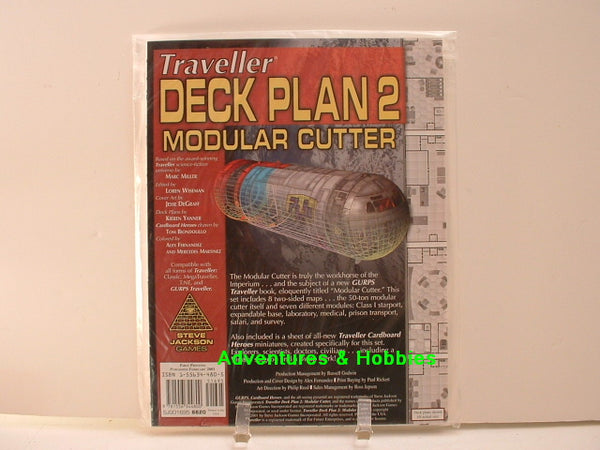 Traveller Deck Plan 2 Modular Cutter 25-28mm New D8 Steve Jackson