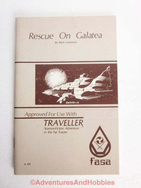 Traveller Adventure Rescue On Galatea With Map FASA A6 1982 Science Fiction CU-S