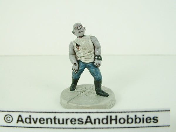 Miniature Zombie Biker Tough 152 Post Apocalypse Painted 25mm