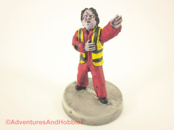 Miniature Zombie Fireman First Responder 165 Post Apocalypse Painted