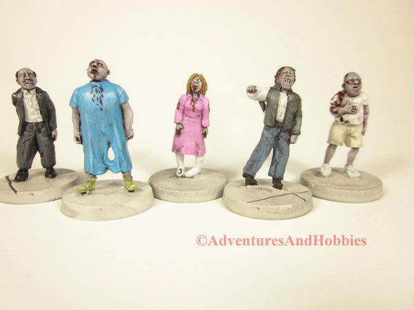 Post Apocalypse Zombie Horde Doctor's Office Lot of 5 Miniatures Horror 25mm H103