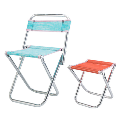 Folding Chair Seat Outdoor Camping Chairs Lightweight Foldable Chair Camping Fishing Stool Picnic Beach Chair Random Color
