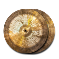 "Cymbal and Gong Holy Grail Turkish Style 14"" Hi Hats t-791g b-958g"