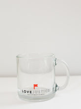Love Justice Clear Coffee Mug