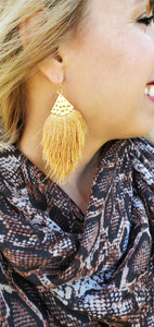 All For Fun Tassel Earrings- Gold Tassel Earrings