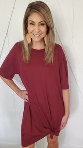 Made For You Dress- Burgundy