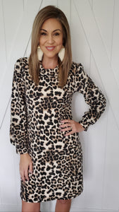 I Think I'm In Love Dress- Leopard