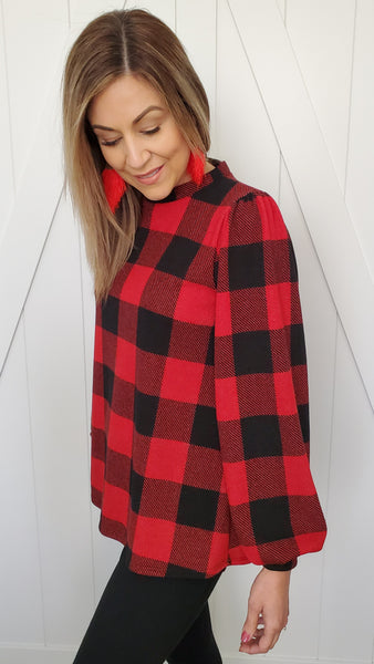 Wished For This Sweater- Red/Black