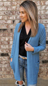 Unstoppable Cardigan-Blue