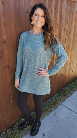 Perfect For You Tunic-Sage Green