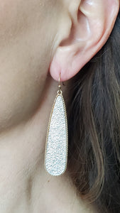 Silver/Gold Textured Earrings