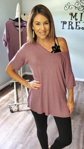 Simply Mauvelous Top- Mauve