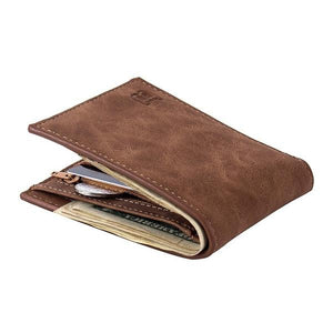 classic fur free wallet leather fur brown
