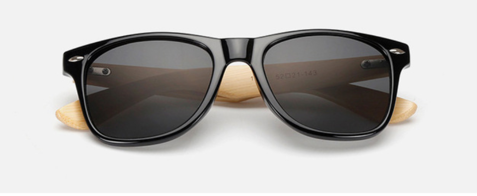 free sunglasses vintage bamboo black sunglasses