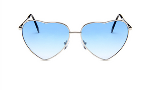 janis joplin heart shaped free sunglasses blue white