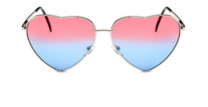 janis joplin heart shaped free sunglasses red blue