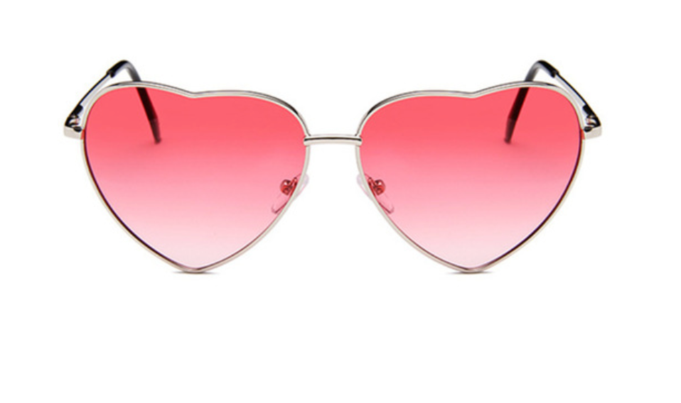 janis joplin heart shaped free sunglasses pink red