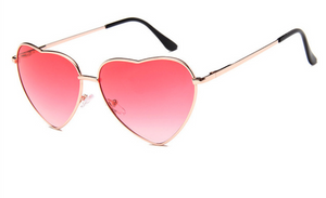 janis joplin heart shaped free sunglasses red