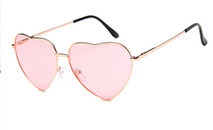 janis joplin heart shaped free sunglasses pink