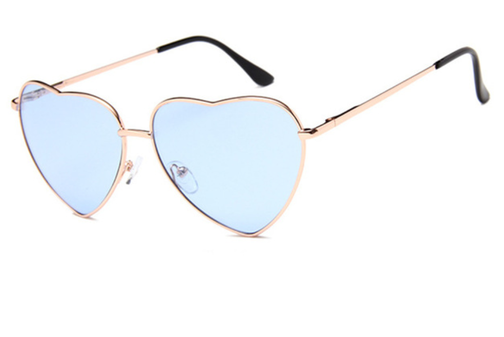 janis joplin heart shaped free sunglasses blue