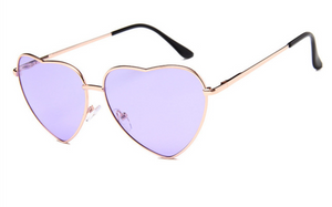 janis joplin heart shaped free sunglasses purple