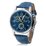 free watches classic alligator blue watch