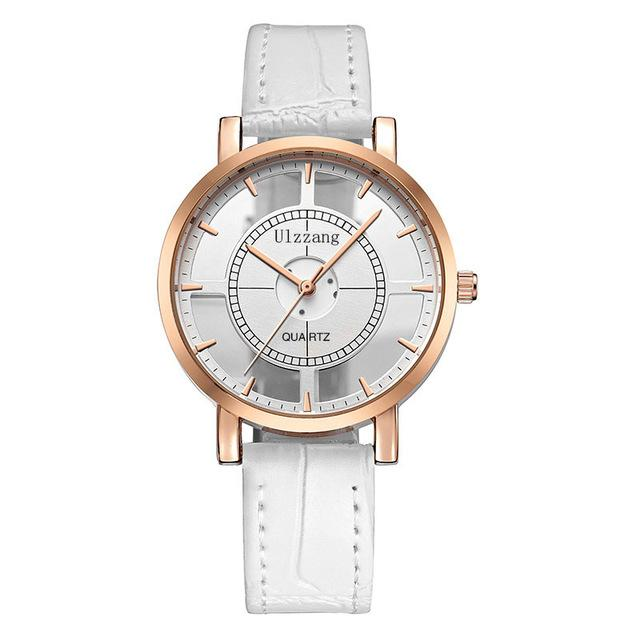 hollow analog free watches quartz gold white