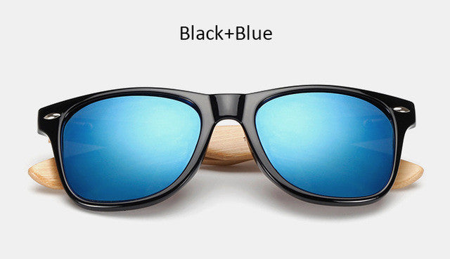 free sunglasses vintage bamboo blue sunglasses