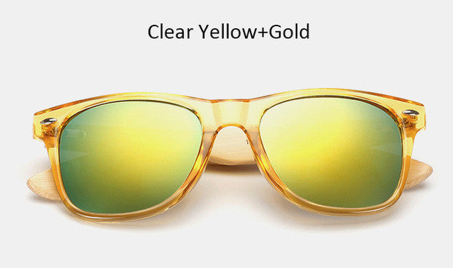 free sunglasses vintage bamboo yellow sunglasses